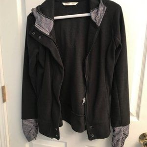 Old Navy Zip Up black and gray with thumb holes XS